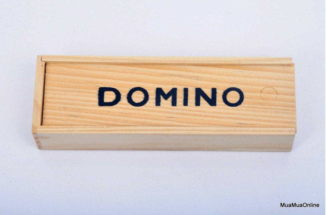 Bộ Đồ Chơi Cờ Domino Đen Có Hộp Gỗ Đựng Cờ Tiện Dụng