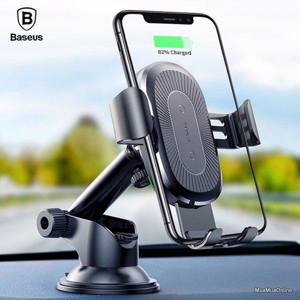 Bộ Đế Giữ Điện Thoại Tích Hợp Sạc Không Dây Baseus Wireless Charger Gravity Car Mount