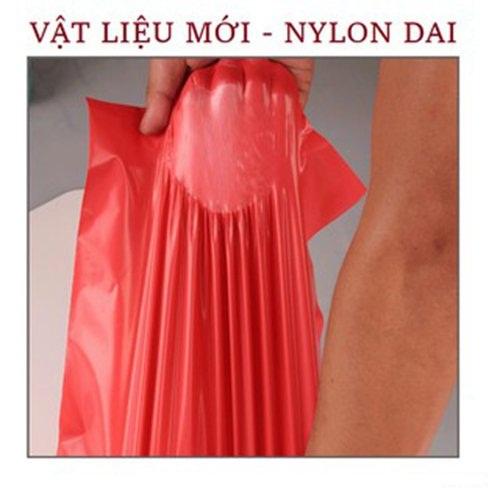 Bộ 100 Túi Nylon Đen Đóng Hàng Niêm Phong Có Keo Dán Miệng 38x52cm