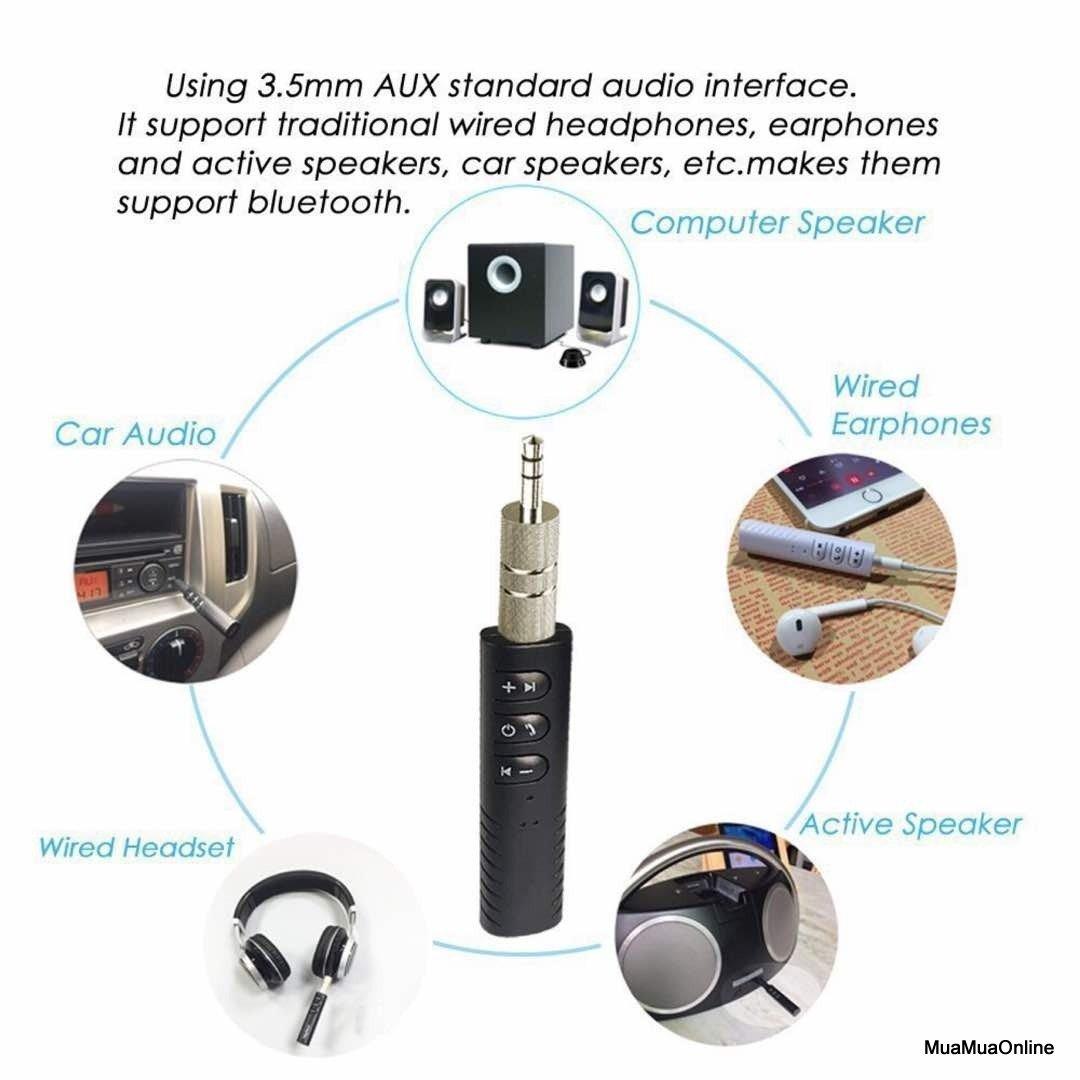 Bộ Chuyển Đổi Tai Nghe, Loa Thường Thành Bluetooth Cao Cấp