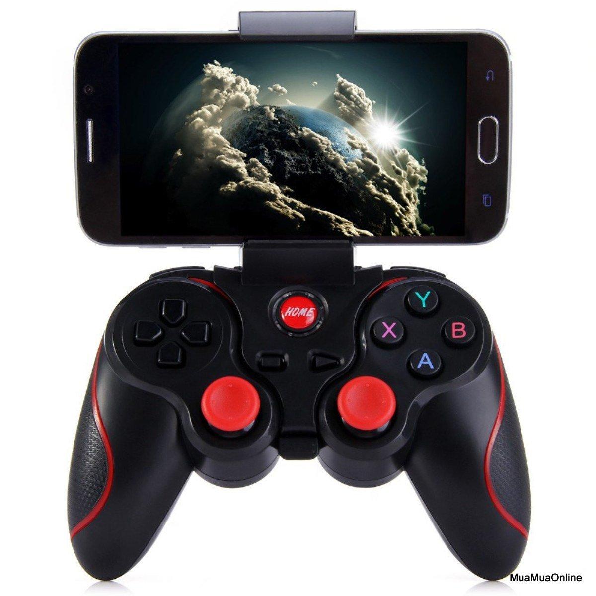 Bộ Tay Cầm Chơi Game Bluetooth X3 Tặng Giá Kẹp Điện Thoại Cao Cấp