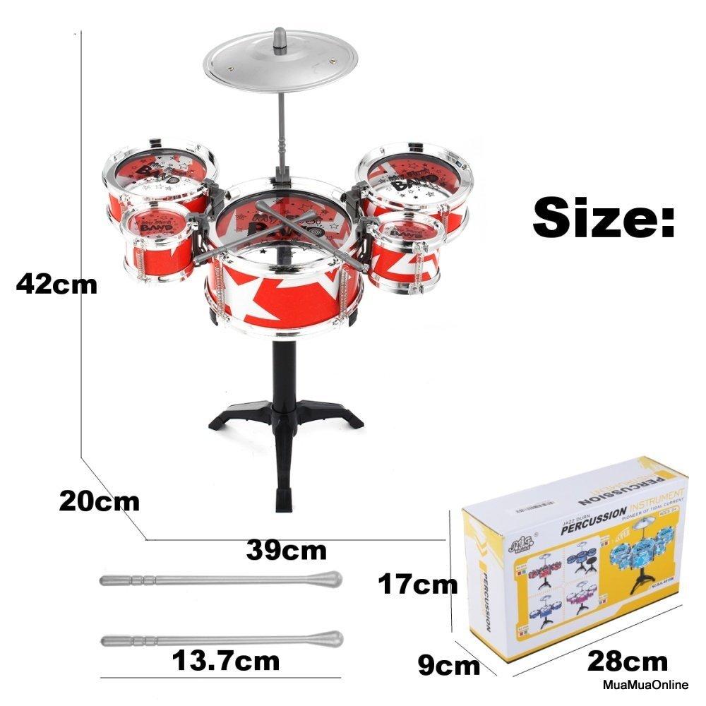 Bộ Trống Jazz Drum 5 Trống Kèm Ghế Cho Bé