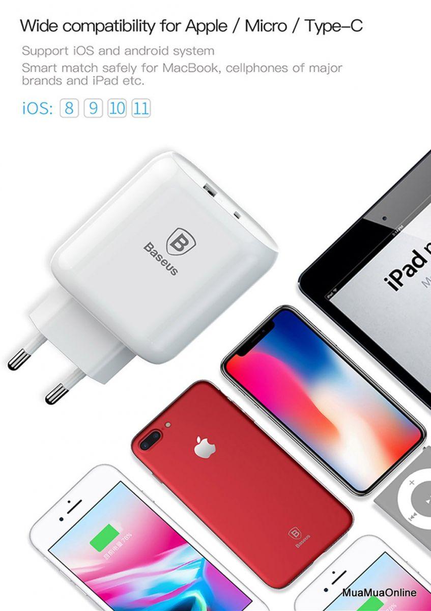 Bộ Sạc Nhanh Đa Năng Baseus Bojure 32W Cho Smartphone/ Tablet/ Macbook