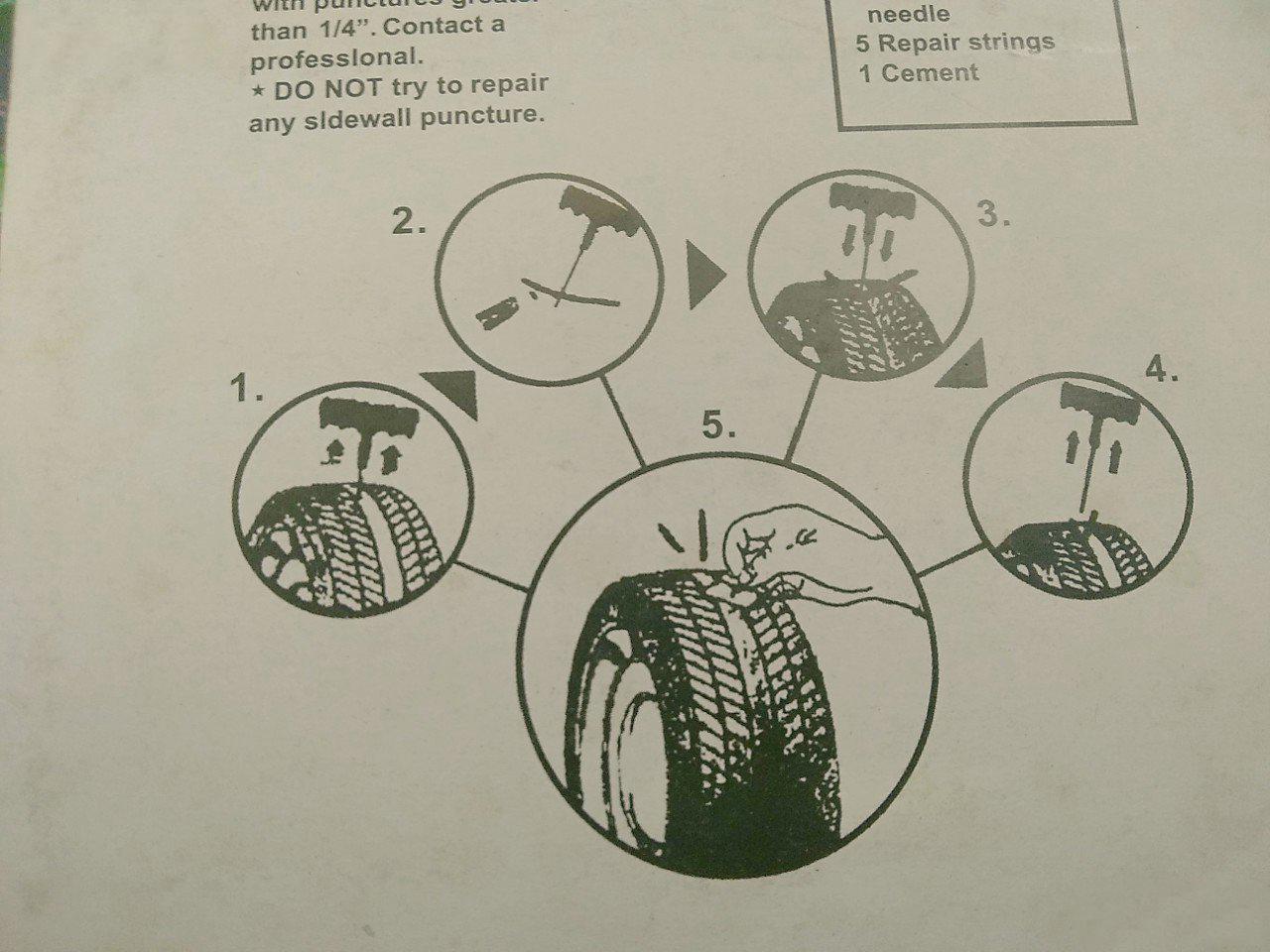 Bộ 10 Sợi Keo Vá Rút Dùng Để Vá Vỏ Xe Không Ruột Cao Cấp