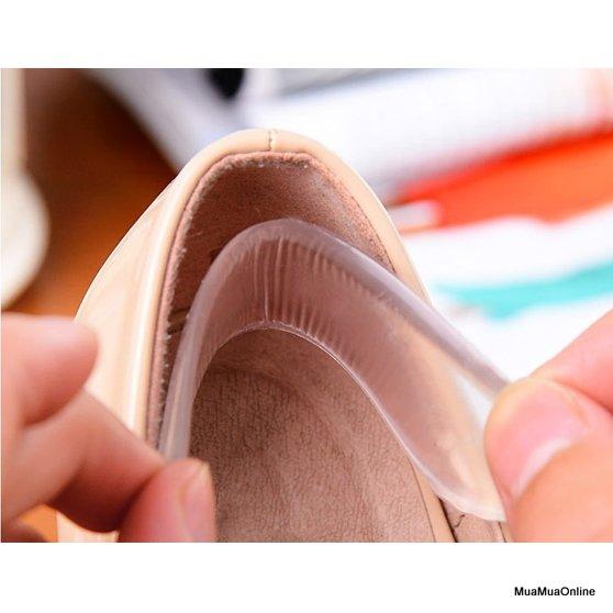 Bộ 2 Miếng Lót Sau Giày Silicon Cao Cấp