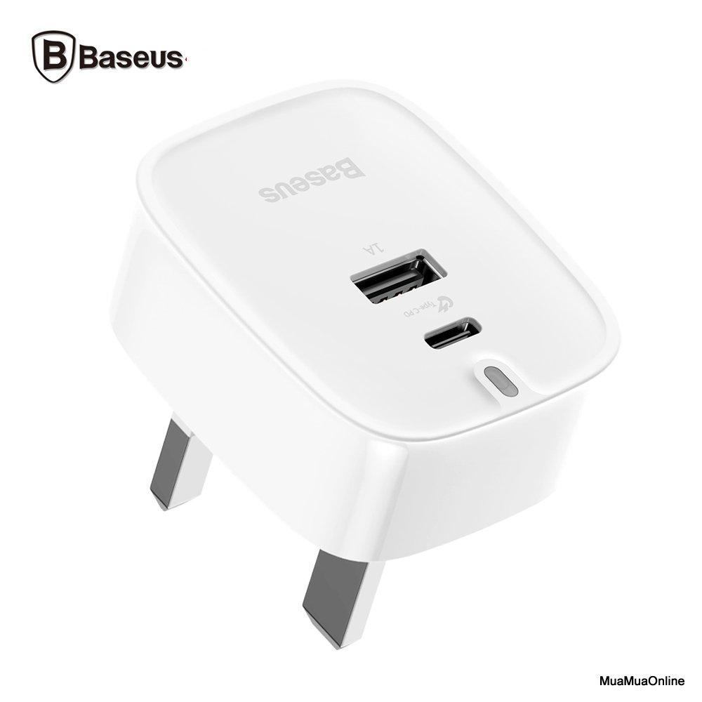 Bộ Sạc Nhanh 3 Chấu Baseus Funzi Type C Pd + U Quick Charger Cho Smartphone/ Tablet/ Macbook