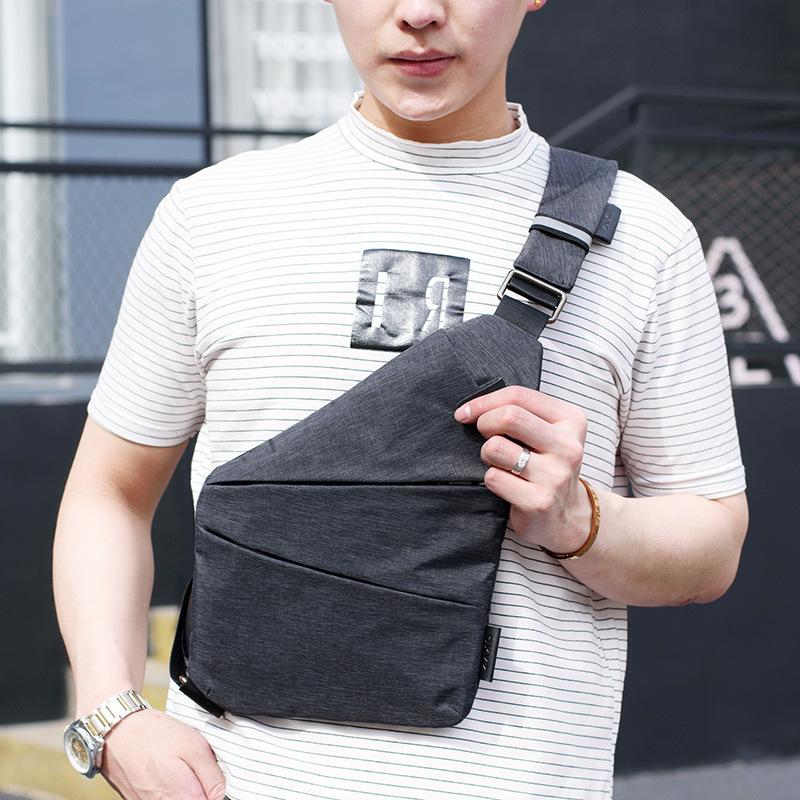 Túi Đeo Chéo Cho Nam 3 Ngăn Thiết Kế Chống Trộm Phiên Bản Hàn Quốc