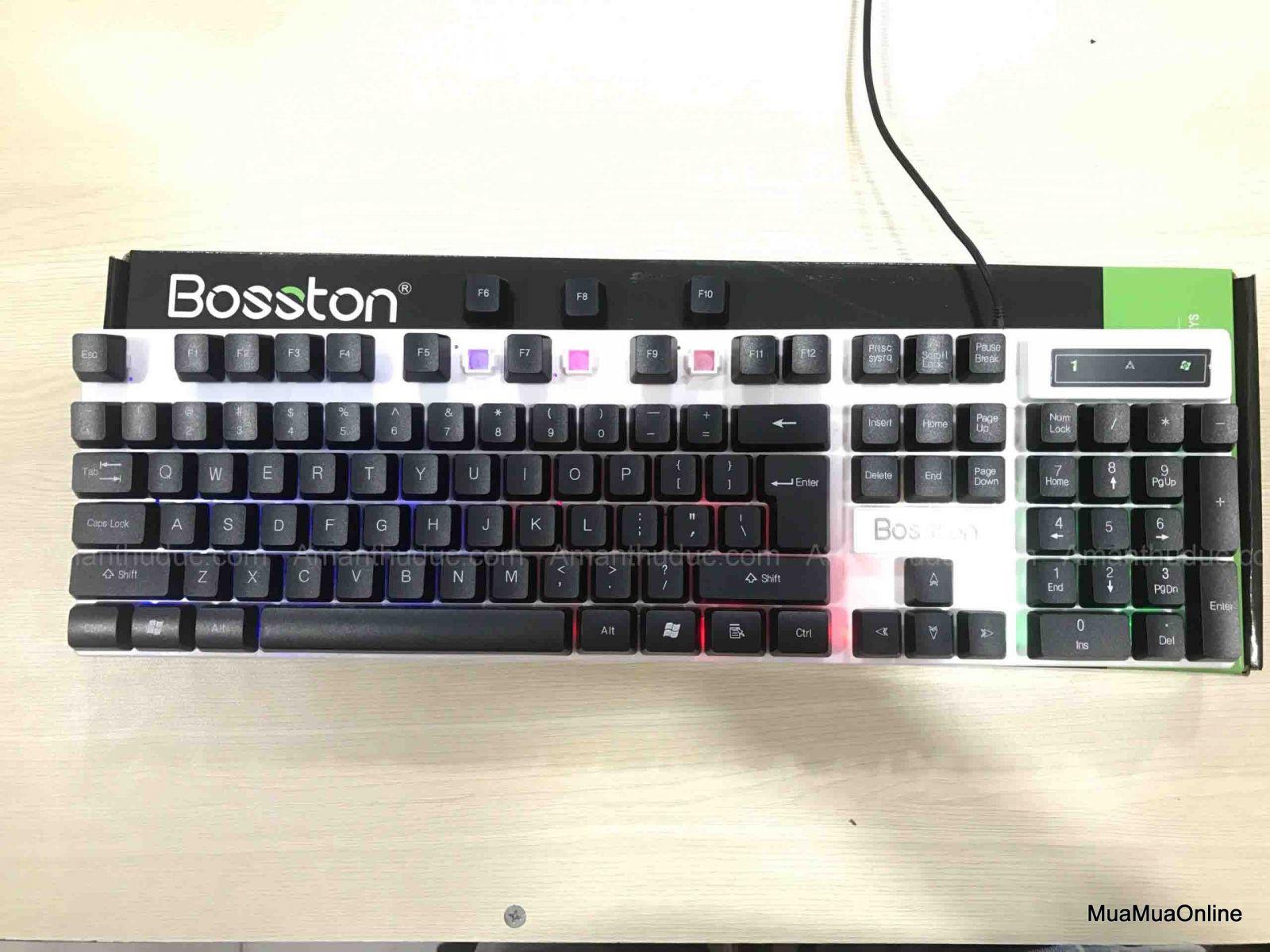 Bàn Phím Chuyên Game Giả Cơ Led Bosston 808 Cao Cấp