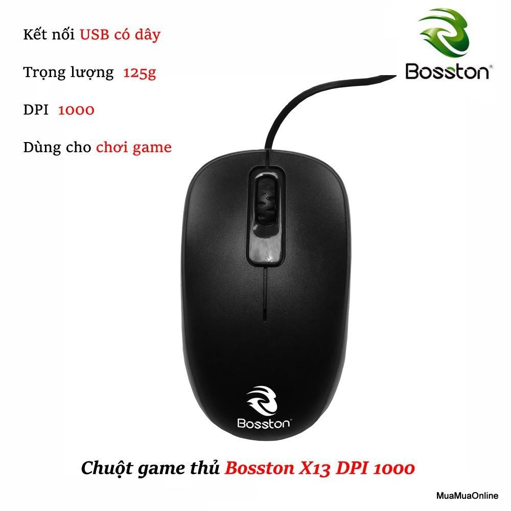 Chuột Dây Bosston X13 1000DPI Cao Cấp