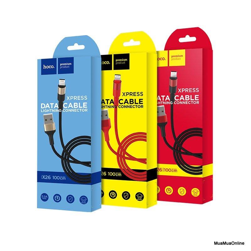 Cáp Sạc Lightning Hoco X26 Cho Iphone