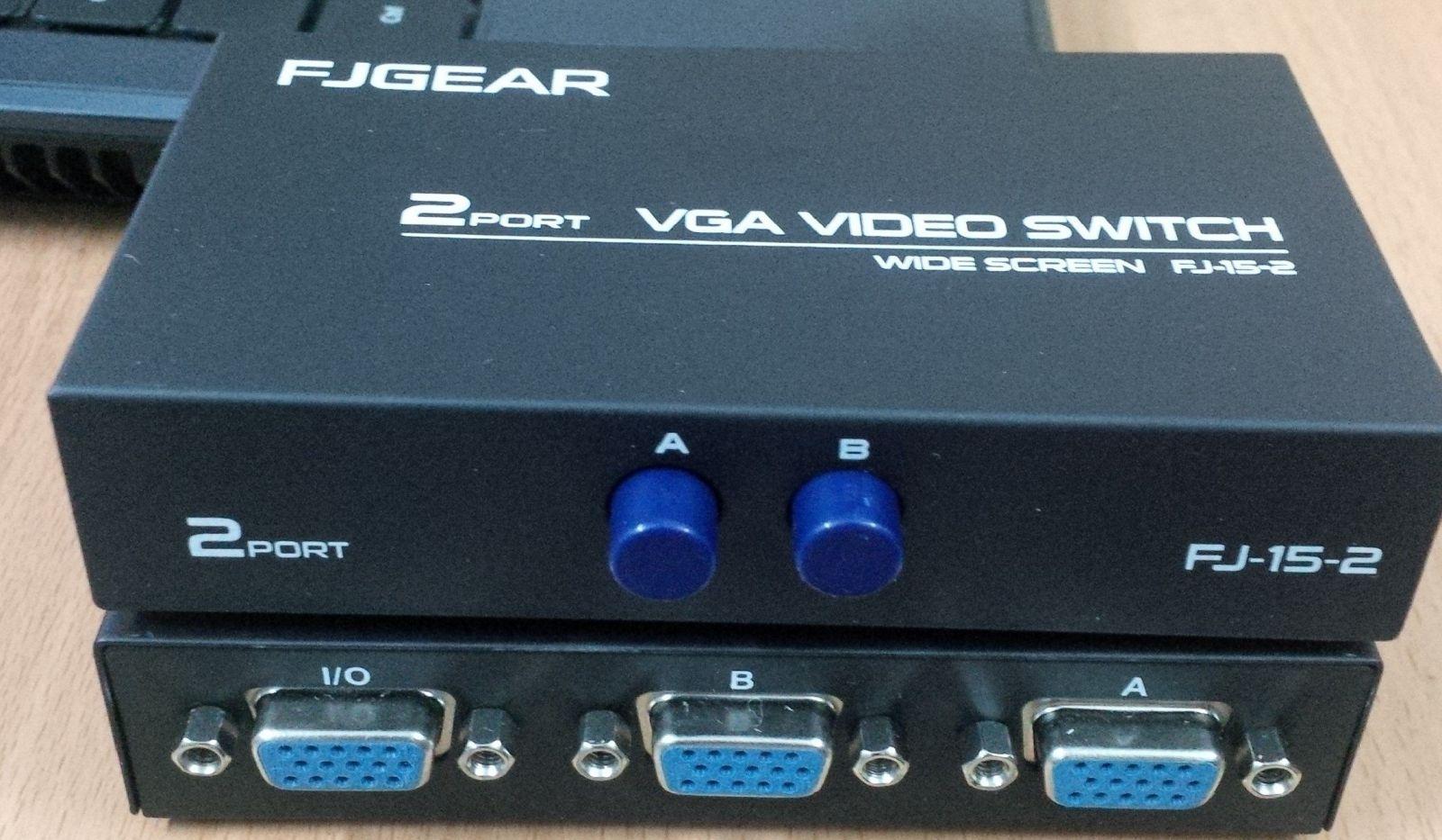 Bộ Chia 2 VGA CPU Ra 1 VGA Màn Hình (Port VGA Switch)