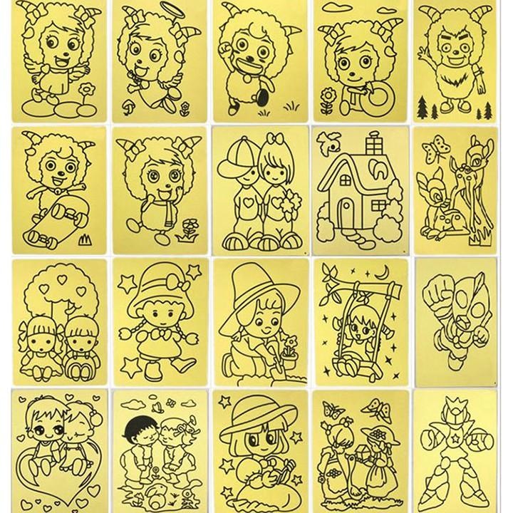 Combo 10 Tranh Cát Cho Bé (nhiều Hình)