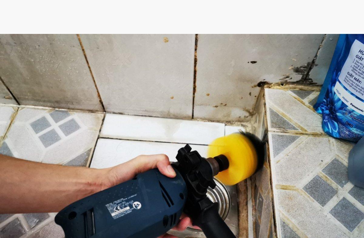 Combo 3 Đầu Bàn Chải Lắp Máy Khoan Cầm Tay Vệ Sinh Nhà Cửa Nội Thất