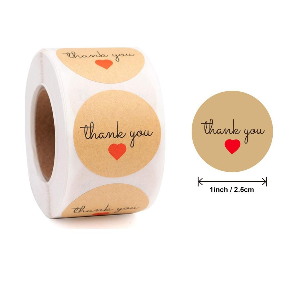 Cuộn Sticker Dán Thank You (2 Mẫu)