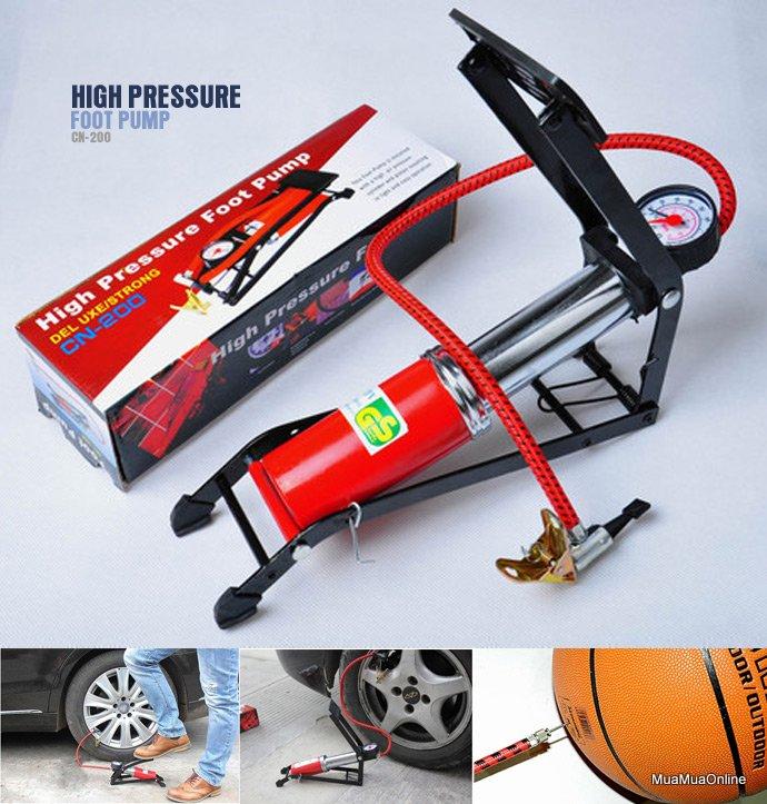 Dụng Cụ Bơm Hơi Dùng Chân High Pressure Foot Pump