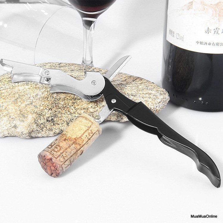 Dụng Cụ Mở Nắp Rượu Vang Đa Năng Thép Không Rỉ Cao Cấp