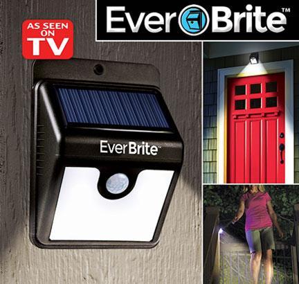 Đèn Cảm Biến Ever Brite Pin Sạc Năng Lượng Mặt Trời Cao Cấp