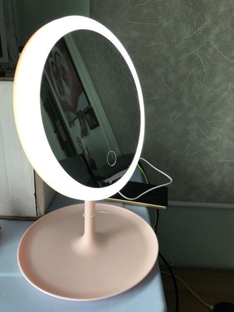 Gương Trang Điểm Đèn LED 28x18cm Sạc USB