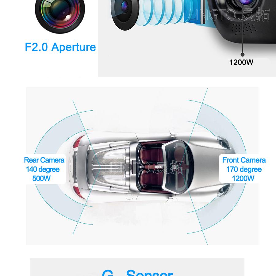 Camera Hành Trình Gương Chiếu Hậu Và Camera Lùi Vehicle Blackbox Dvr Full Hd Cao Cấp