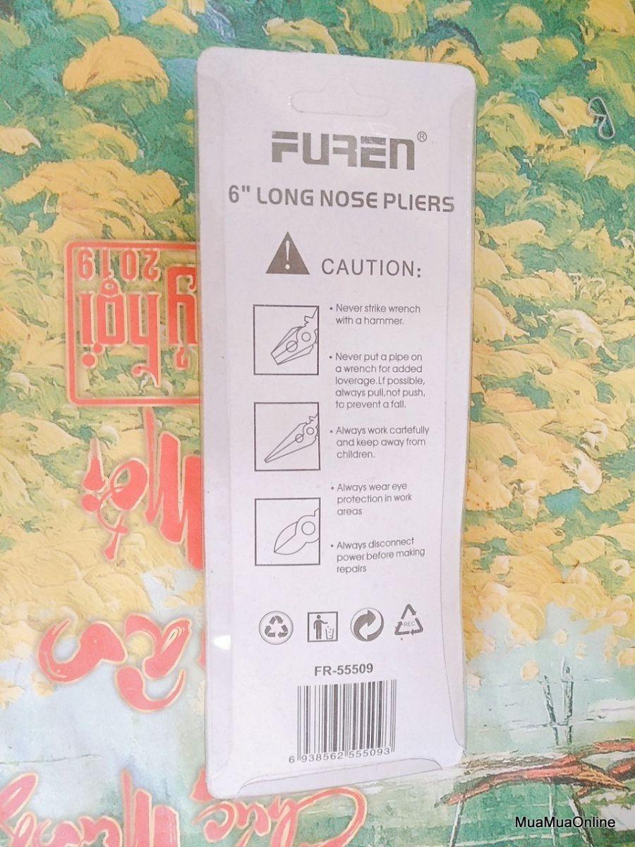 Kềm Điện Mũi Dài Furen 55509 Dài 17Cm Cao Cấp