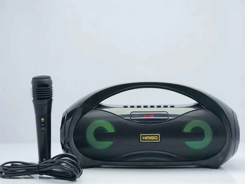 Loa Bluetooth Kimiso KM-S2 Có Led âm Thanh Stereo Cực Hay Tặng Kèm Mic Và Dây
