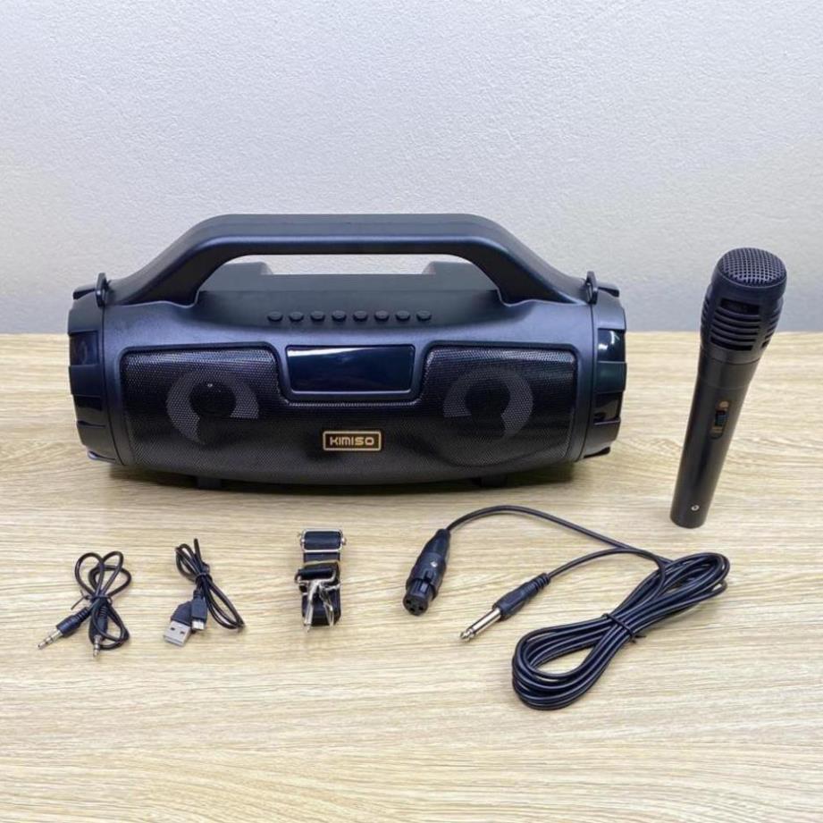 Loa Bluetooth Kimiso KM-S3 Có Led âm Thanh Stereo Cực Hay Tặng Kèm Mic Và Dây