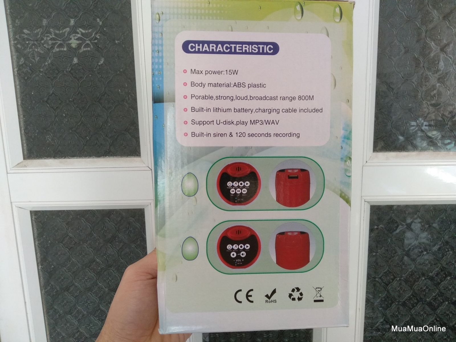 Loa Phát Thanh Megaphone 15W Đọc USB Cao Cấp + Tặng Kèm Pin Và Cáp Sạc