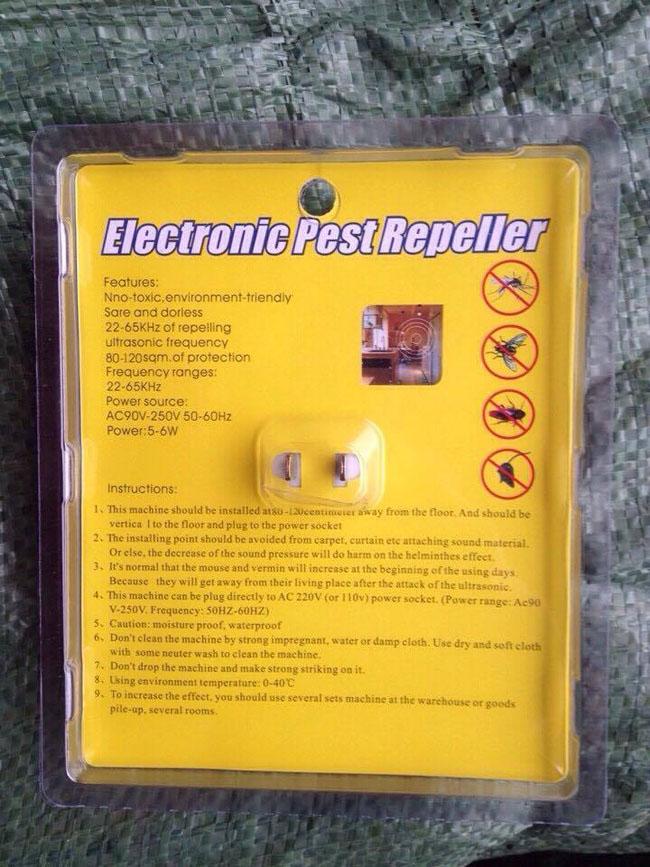 Máy Đuổi Côn Trùng Ultrasonic Pest Repeller Pest Reject
