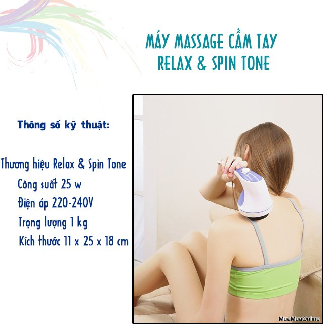 Máy Massage Cầm Tay Relax & Spin Tone Cao Cấp