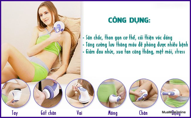 Máy Massage Cầm Tay Relax & Spin Tone A781