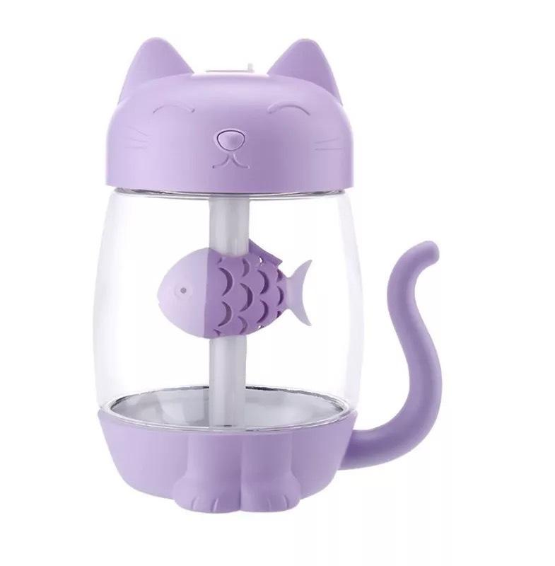 Máy Phun Sương Tạo Độ Ẩm  Hình Mèo Kitty Dùng Pin Sạc