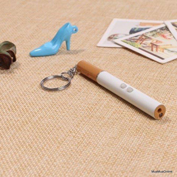 Móc Khóa Bút Bi Hình Điếu Thuốc 3 Trong 1 Lazer, Soi Sáng, Viết