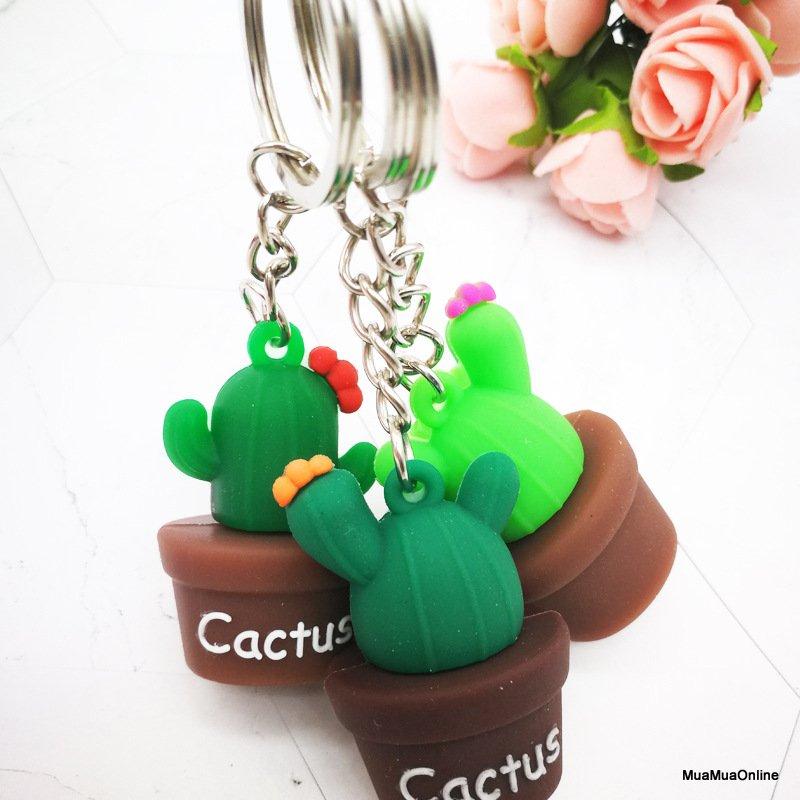 Móc Khóa Cactus Hình Xương Rồng