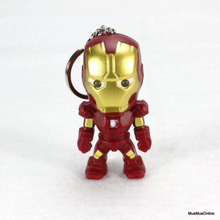 Móc Khóa Iron Man Có Led Và Âm Thanh Cao Cấp