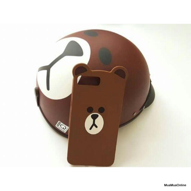 Mũ Bảo Hiểm Nửa Đầu Hình Gấu