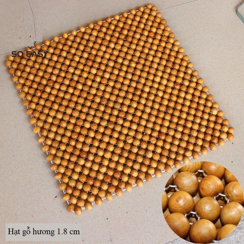 Miếng Đệm Lót Hạt Gỗ Tròn 43cm Chuyên Dùng Trên Ô Tô, Xe Máy, Ghế Văn Phòng