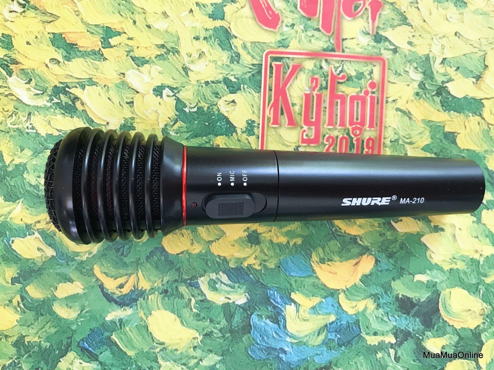 Micro Karaoke SHURE MA-210 Không Dây