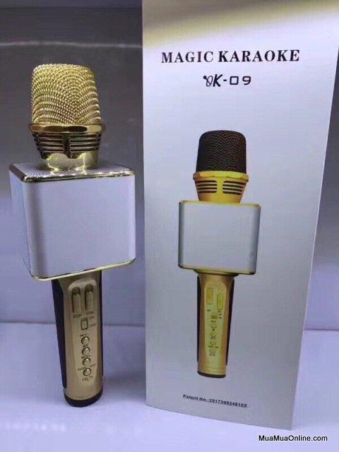 Micro Karaoke Bluetooth Kèm Loa 3 Trong 1 Ok-09