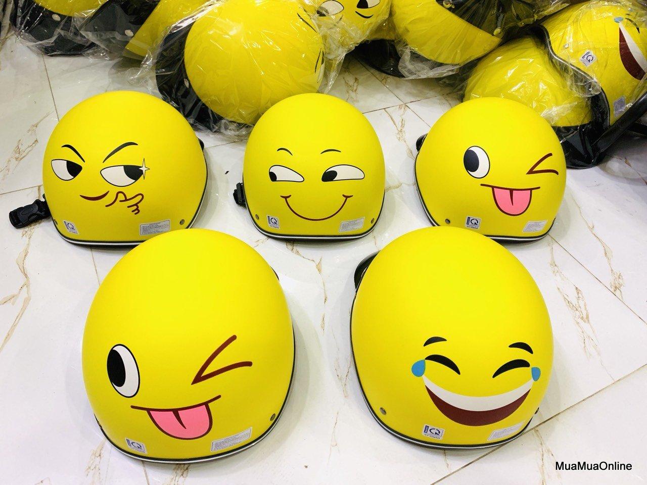 Nón Bảo Hiểm Nửa Đầu Cảm Xúc Hình Emoji