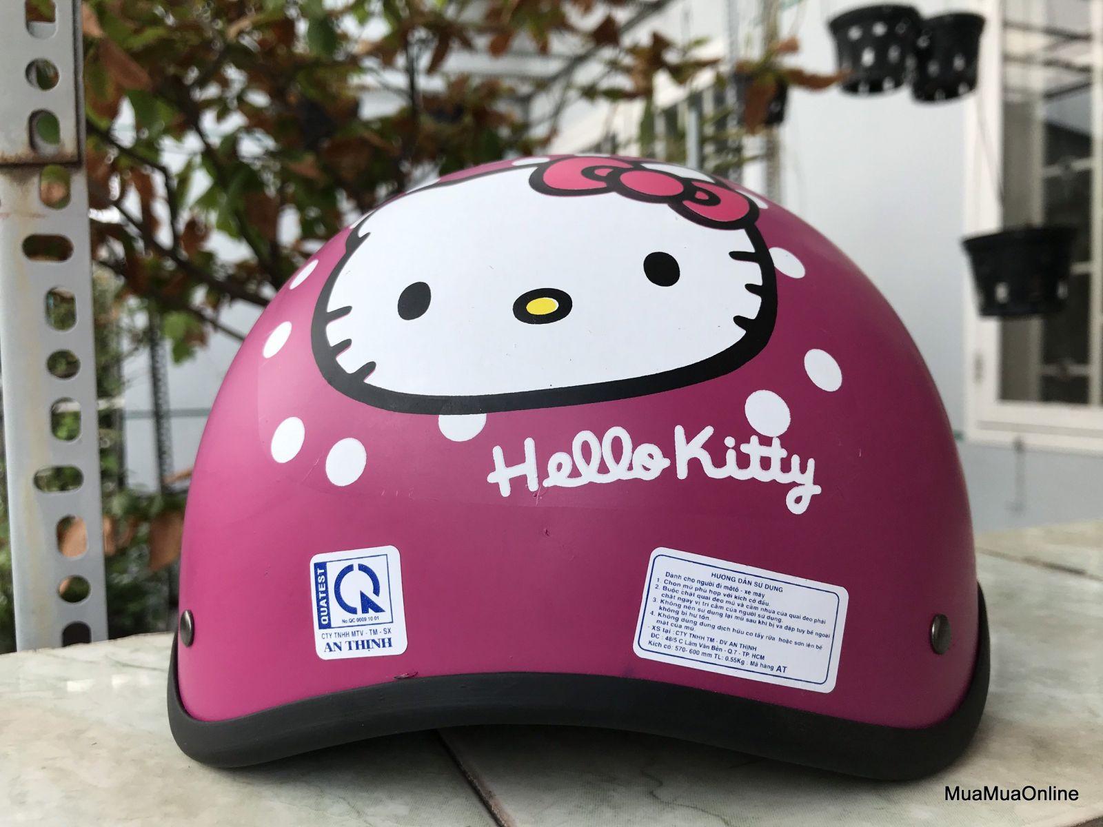 Nón Bảo Hiểm Nửa Đầu Hello Kitty