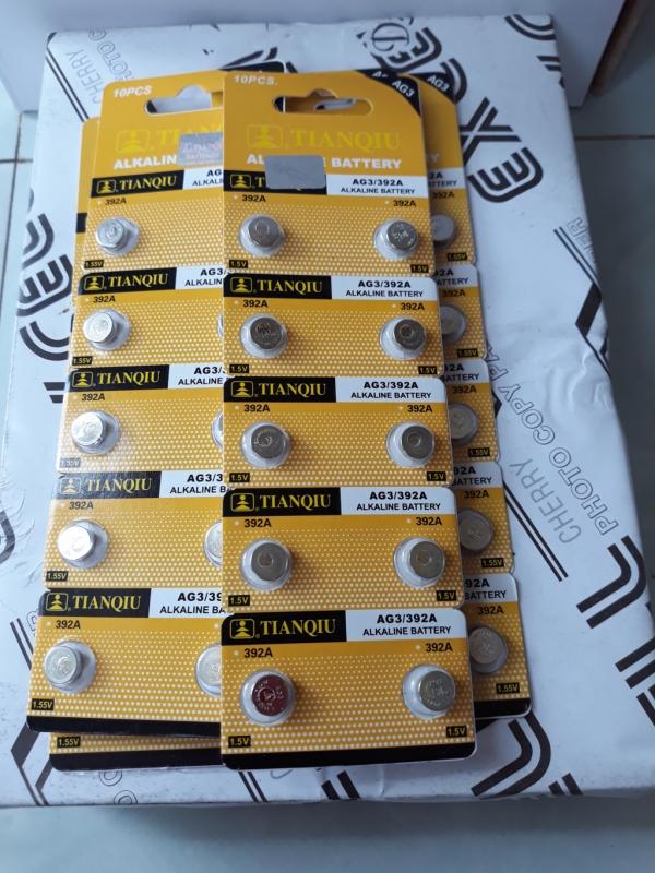 Vỉ 10 Viên Pin AG3/LR41H/392A Tianqiu 1.5v