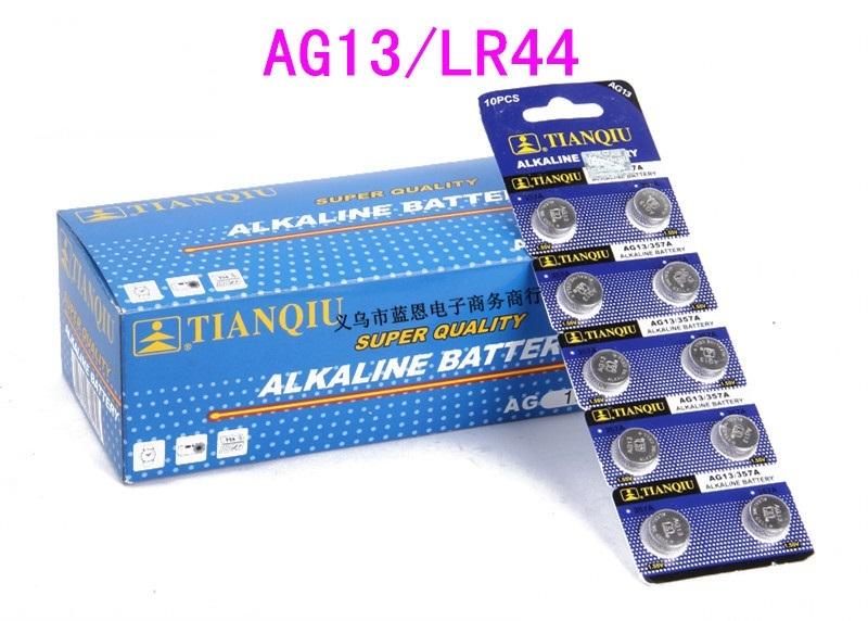 Pin AG13 LR44 Xài Cho Đèn Pin Laser (Vỉ 10 Viên)
