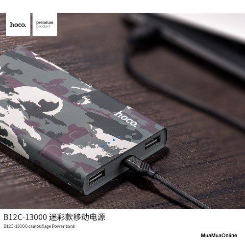 Pin Sạc Dự Phòng Hoco B12C Carbon 13.000Mah