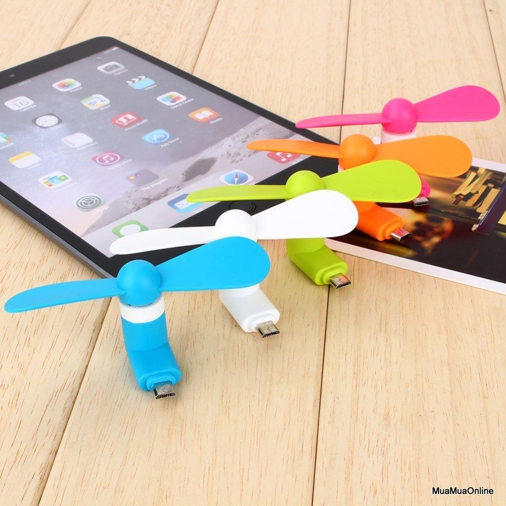 Quạt Mini 2 Cánh Cắm Nguồn Cổng Micro USB Cao Cấp