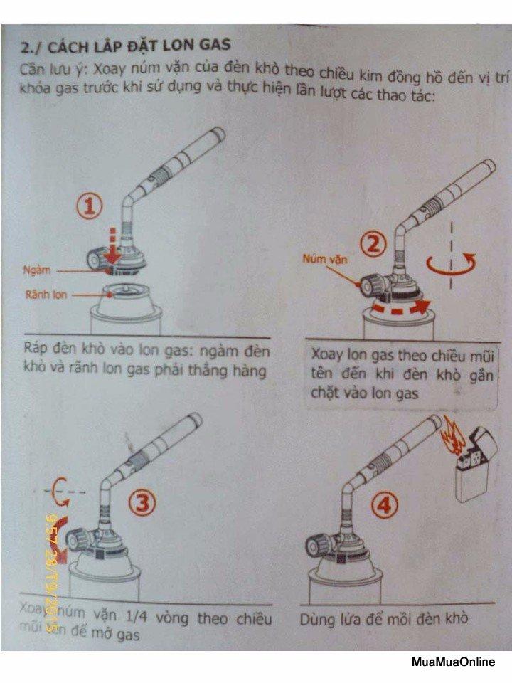 Đèn Khò Hàn Kovea KT-2108 2 Ống Cao Cấp