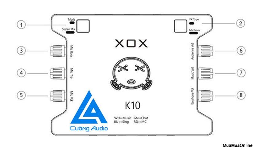 Sound Card Chuyên Hát Karaoke Và Thu Âm XOX K10