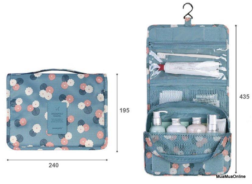 Túi Đựng Mỹ Phẩm Gấp Gọn Toiletry Pouch Tiện Dụng Khi Đi Du Lịch Cắm Trại