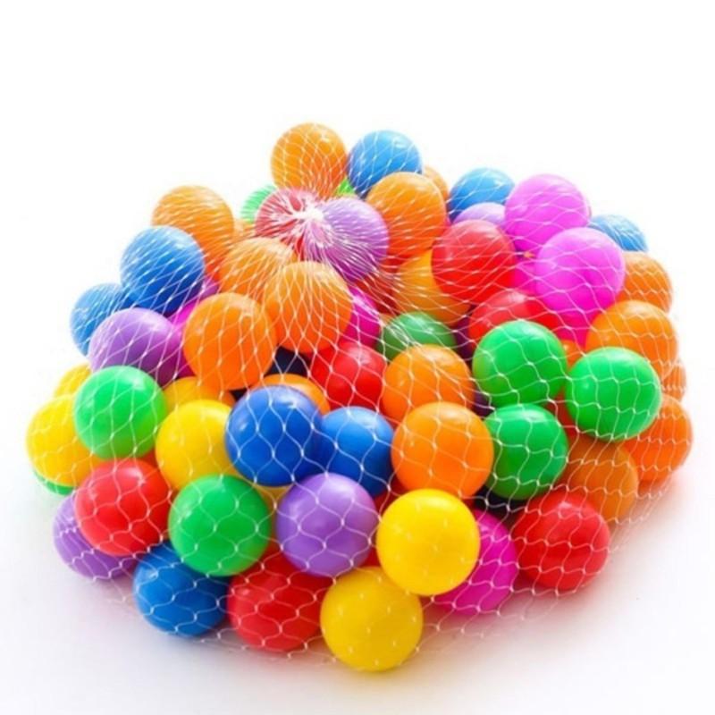 Túi 100 Quả Bóng Nhựa Nhiều Màu An Toàn Cho Bé