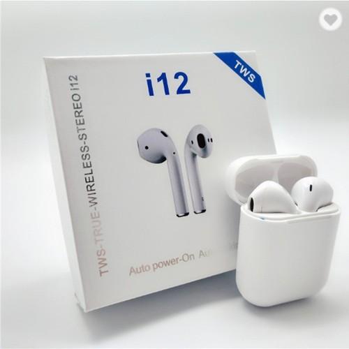 Tai Nghe Bluetooth I12 TWS 5.0 Không Dây Có Đế Sạc