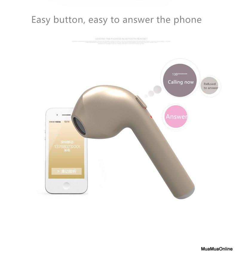 Tai Nghe Bluetooth I7 Kiểu Dáng Iphone 7